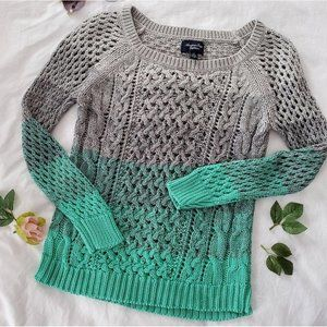 American Eagle Crocheted Sweater Size S